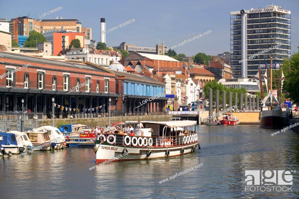 Stock Photo: England, Avon, Bristol, A view toward The Watershed. Watershed is a cinema and caf© bar offering digital media and events.