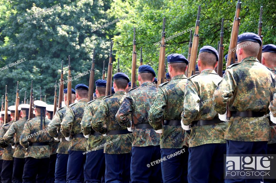 Stock Photo: German Bundeswehr parading.