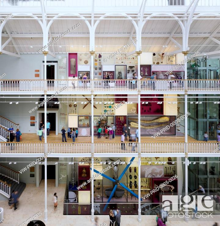 Stock Photo: The redevelopment of the National Museum of Scotland by Gareth Hoskins Architects completed in 2011. The renovation included ref.