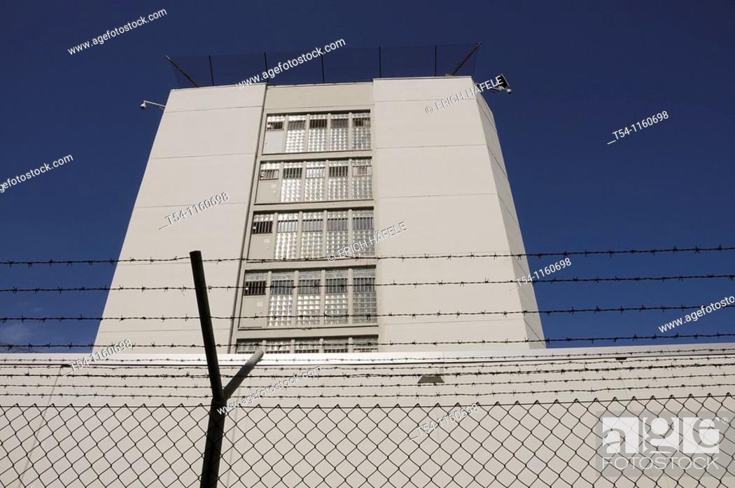 Stock Photo: Prison in Stuttgart-Stammheim.