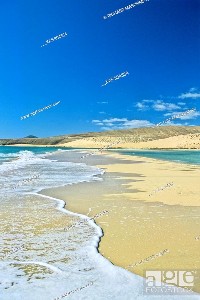 Stock Photo: Spain, Canary Islands,Fuerteventura Island, Peninsula de Jandia, Playa de Sotavento de Jandia.