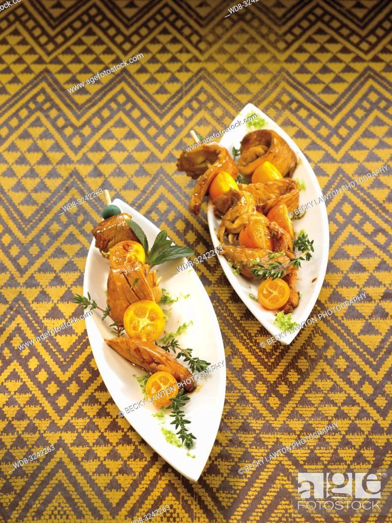 Stock Photo: pollo lacado.