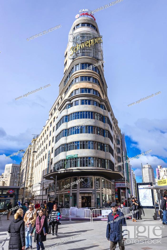 Stock Photo: Plaza del Callao in Madrid, Spain.