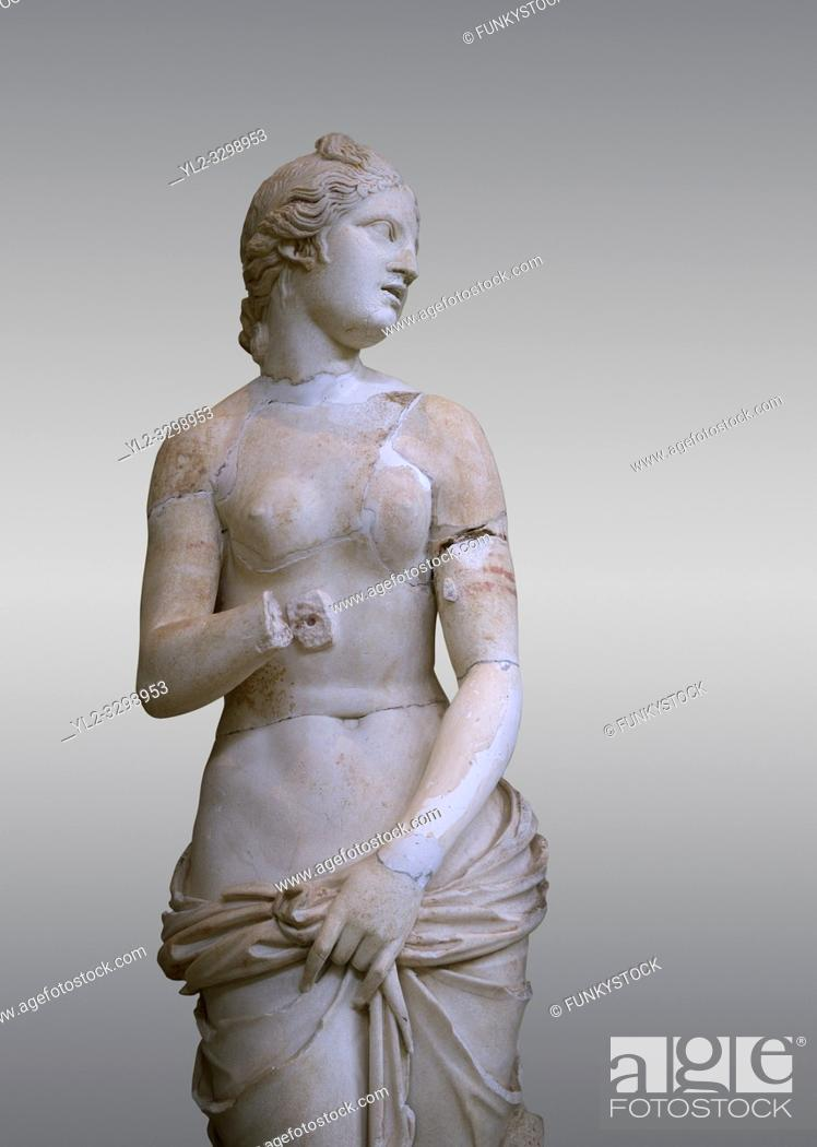 Stock Photo: The Roman Venus Statue, the Goddess of Love, follows the style of a modest Aphrodite, known by other Roman replicas are copies of Ttththird century BC.