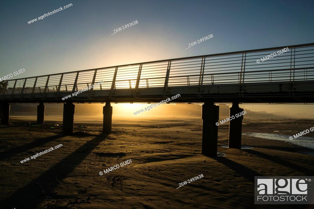 Imagen: View of the pier from Lido di Camaiore Tuscany Italy.