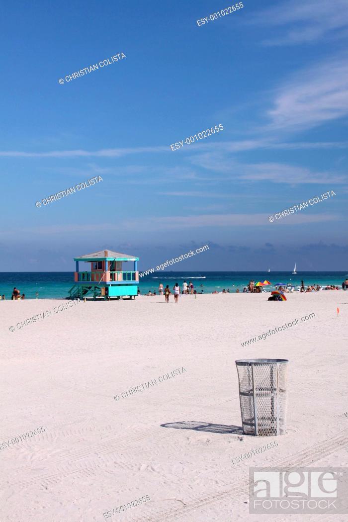 Strand In Miami Beach Stock Photo