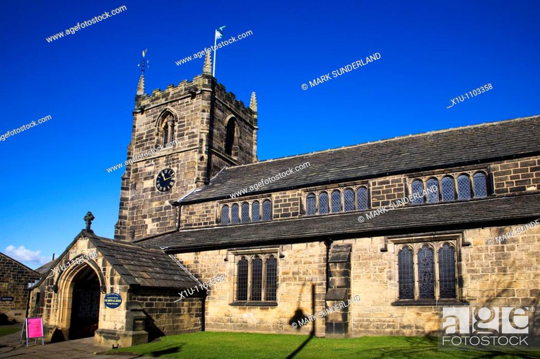 Stock Photo: All Saints Church Ilkley West Yorkshire England.