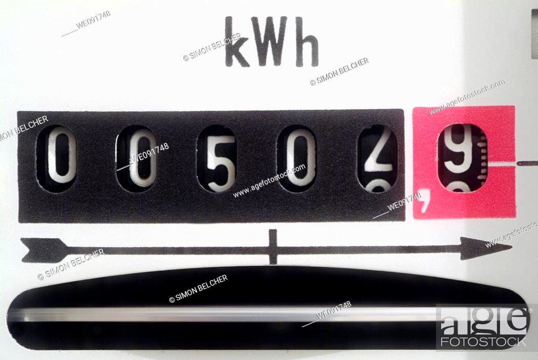 Stock Photo: Electric Meter, Close Up.