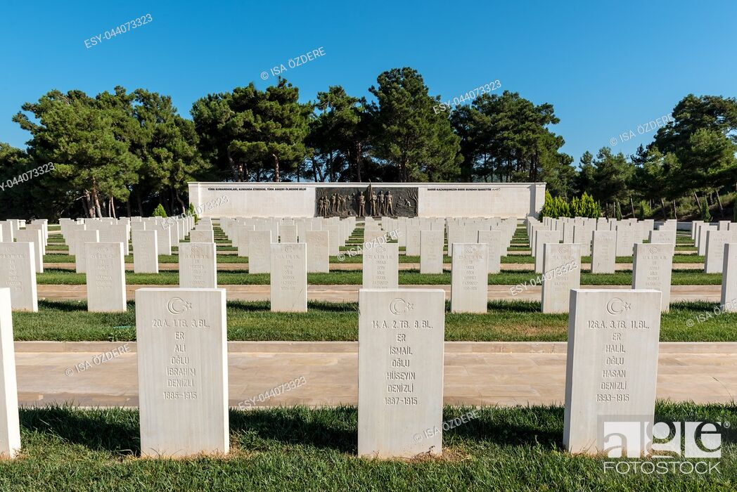 Imagen: Akbas Martyrs Cemetery and Memorial in Canakkale,Turkey. TURKEY, Canakkale,18 August 2017.