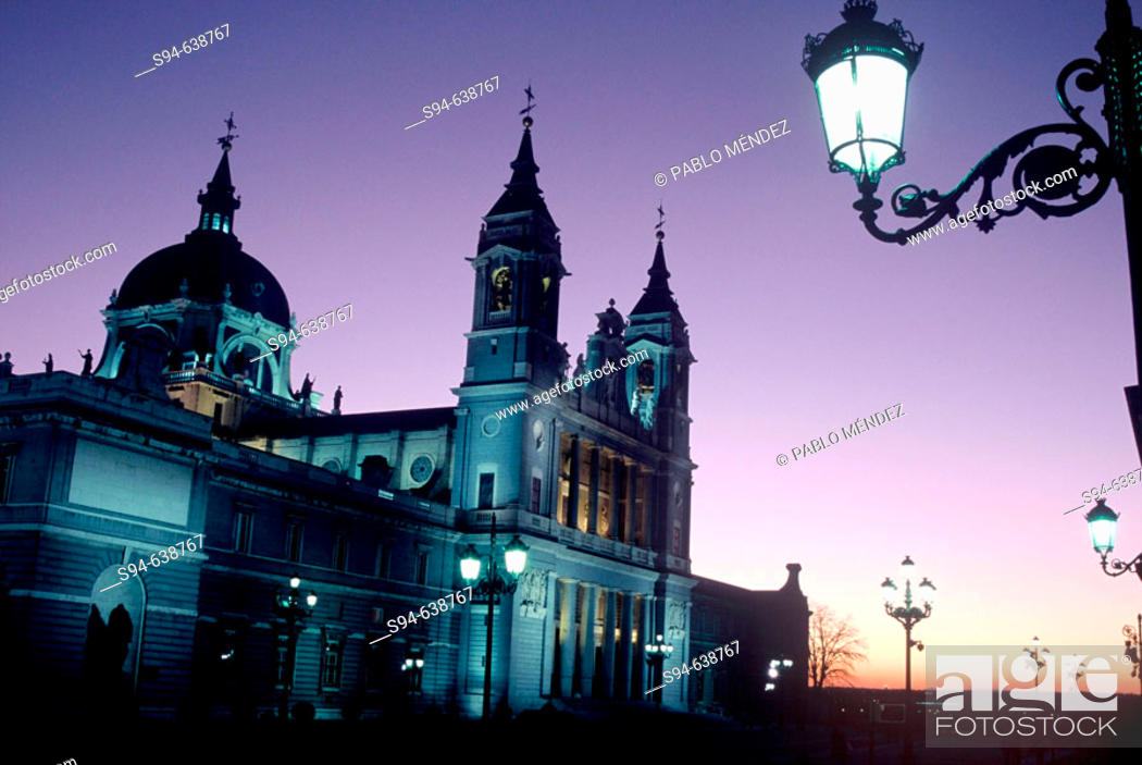 Stock Photo: Cathedral of Nuestra Señora de la Almudena, Madrid. Spain.