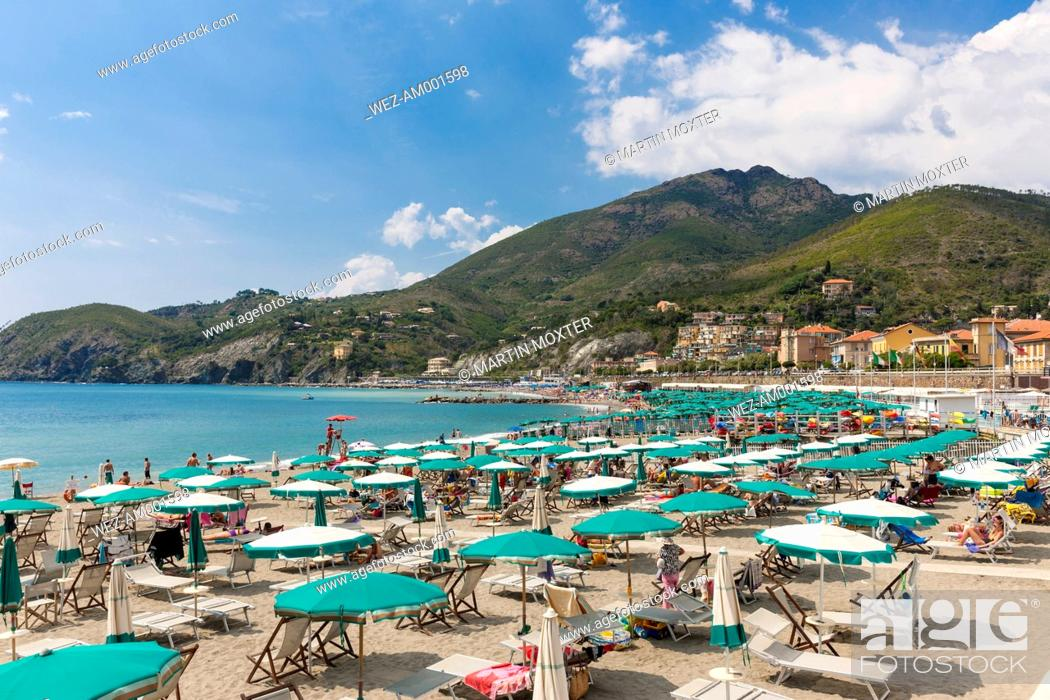 Stock Photo Italy Liguria La Spezia Cinque Terre Levanto Beach