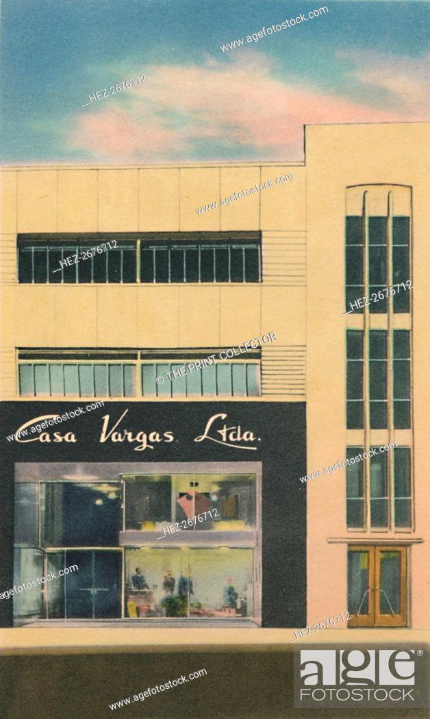Stock Photo: 'The Modern Department Store Casa Vargas Ltda., Barranquilla', c1940s. Artist: Unknown.