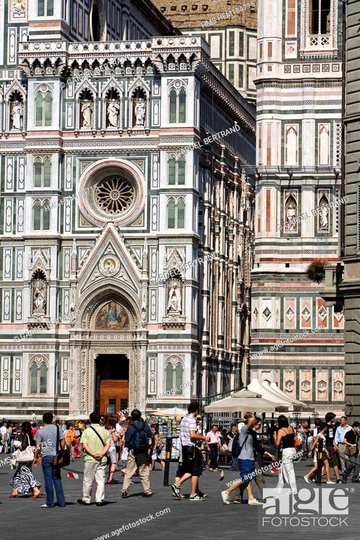 Stock Photo: Italy, Tuscany, Florence, Santa Maria del Fiore Cathedral listed as World Heritage by UNESCO.