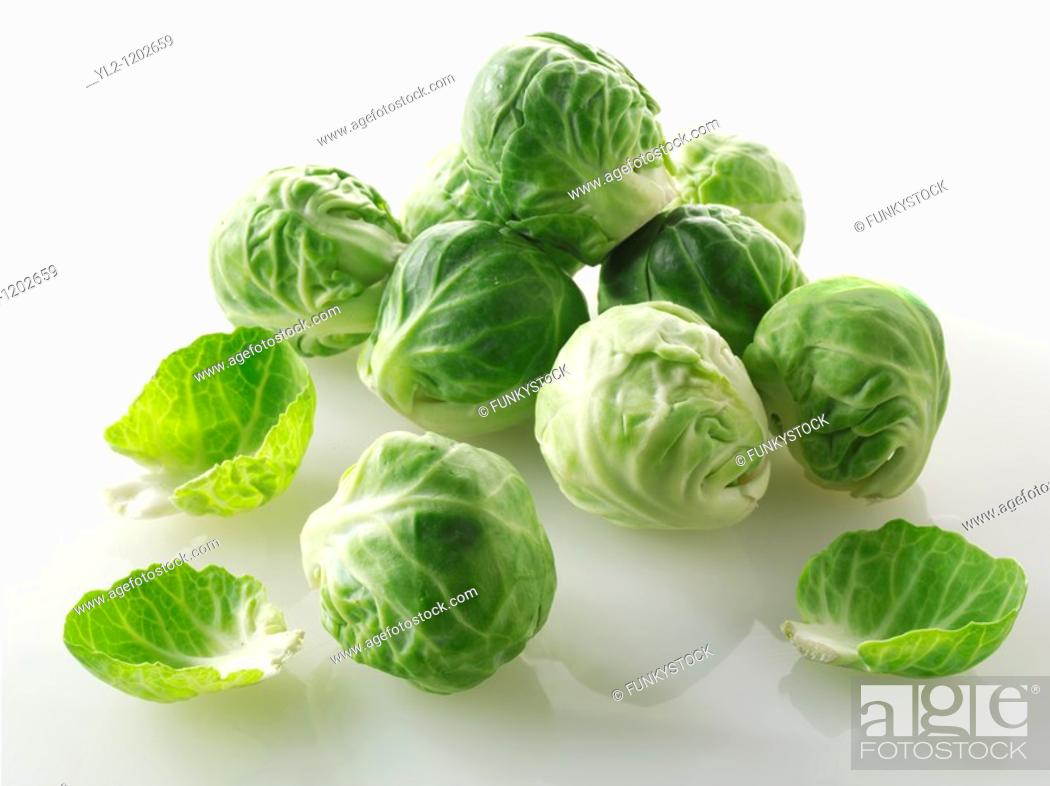 Stock Photo: Fresh Brussels Sprouts.