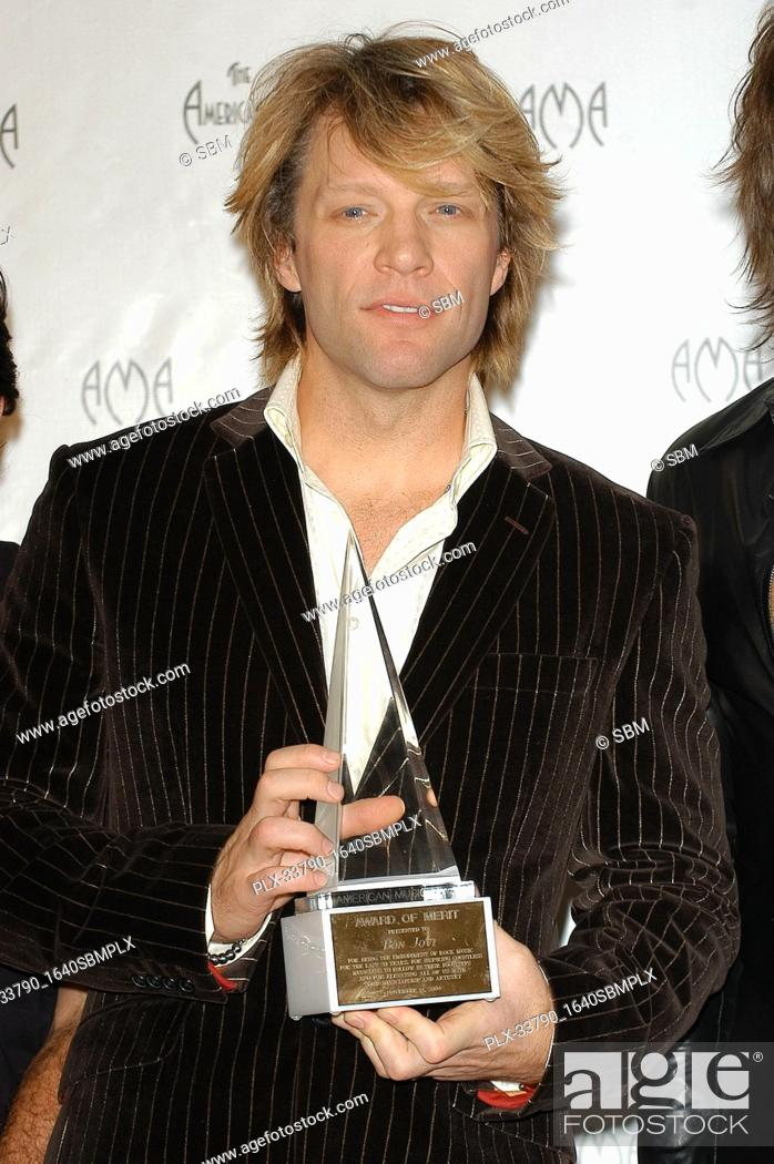 Stock Photo: Jon Bon Jovi at the 32nd Annual American Music Awards - Press Room held at the Shrine Auditorium in Los Angeles, CA. The event took place on Sunday, November 14.