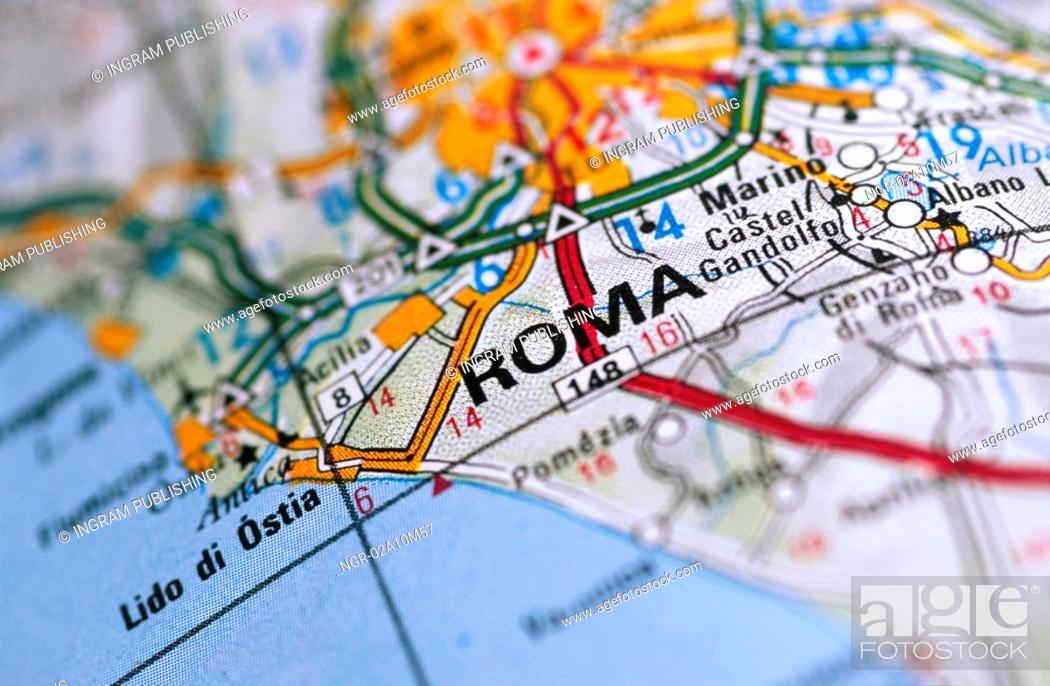 Stock Photo: Map of Rome Italy.