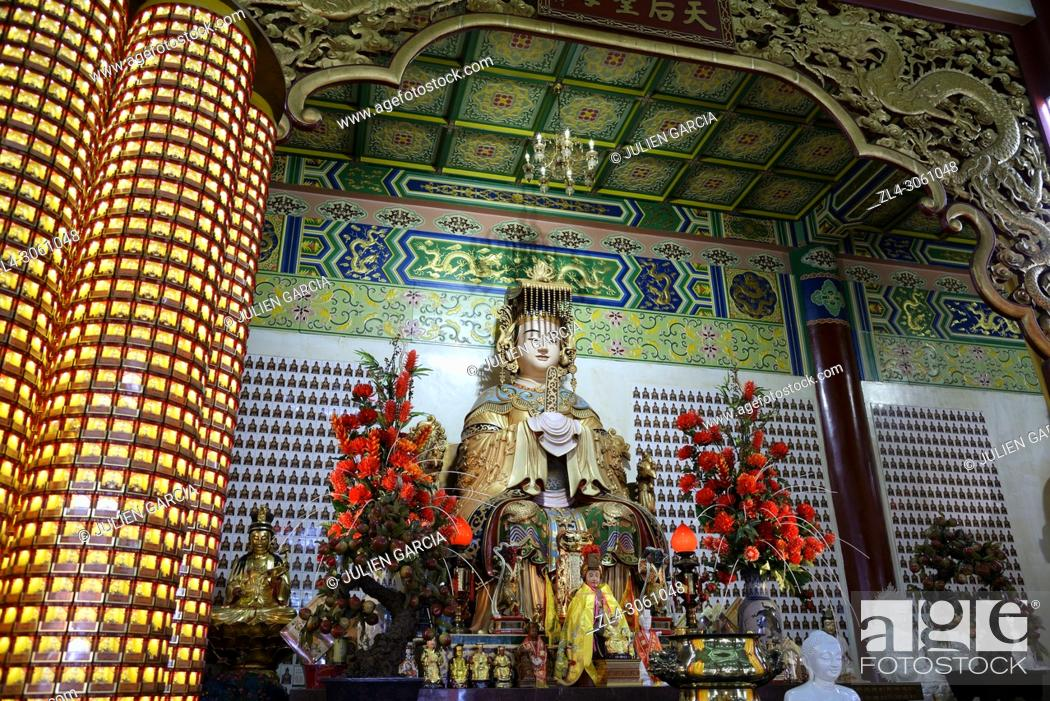 Stock Photo: Malaysia, Selangor State, Kuala Lumpur, Thean Hou Temple, one of the largest Chinese temple in South East Asia.