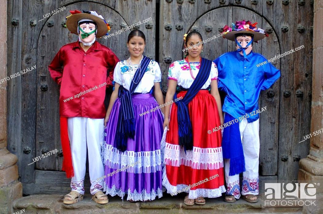 Stock Photo: Purepechas Dancers Patzcuaro Mexico.