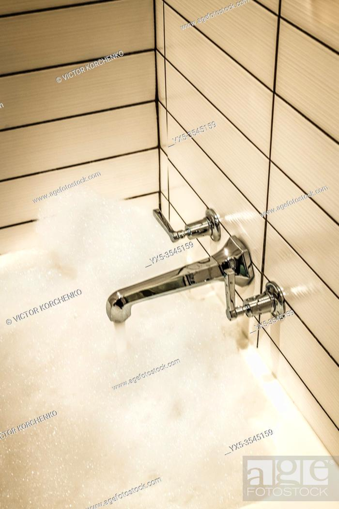 Stock Photo: Bathroom in a hotel.