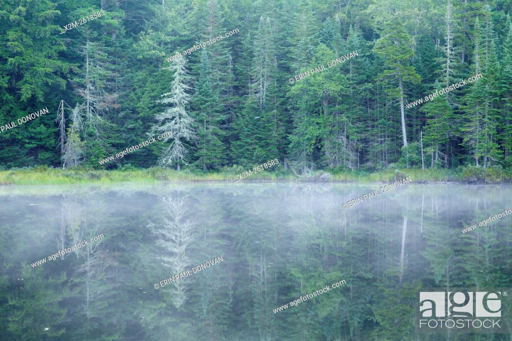 Stock Photo: Atwood Pond along Sandwich Notch Road in Sandwich, New Hampshire USA during the summer months.