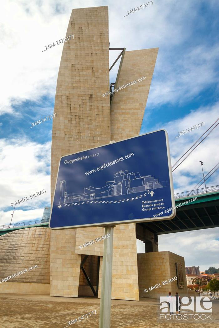 Stock Photo: Guggenheim Museum of Art. Bilbao, Biscay, Spain, Europe.