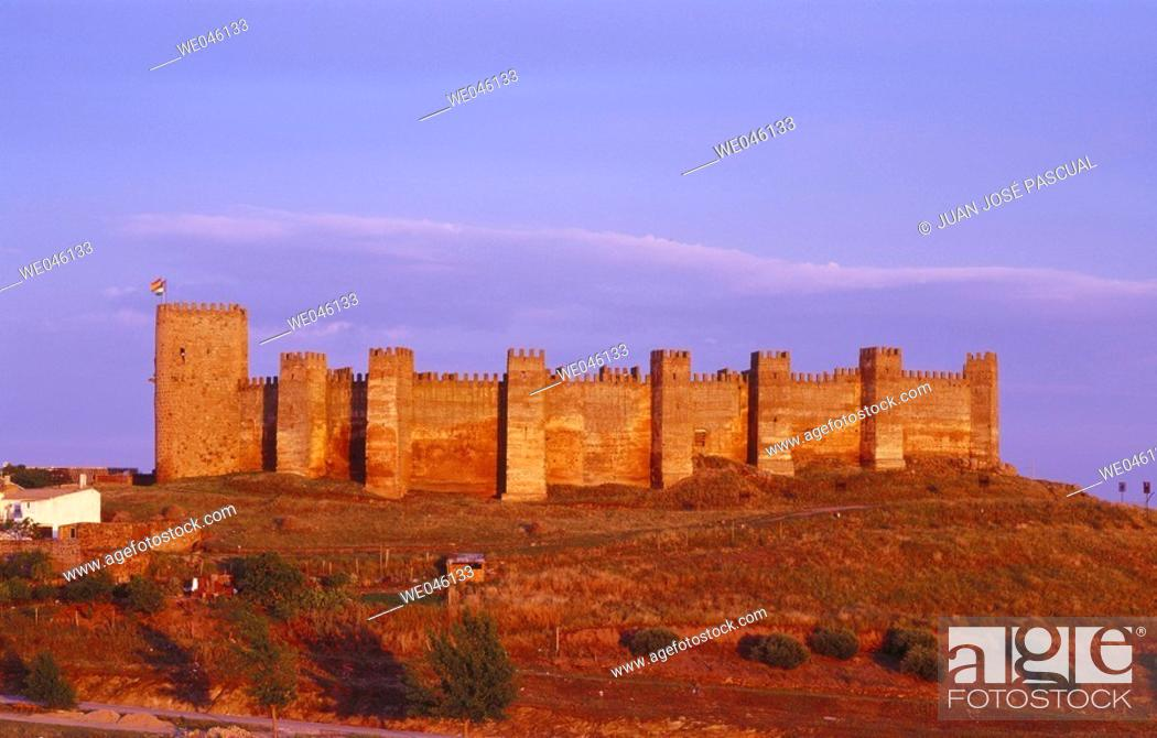 Stock Photo: Castle, Baños de la Encina. Jaén province, Andalusia, Spain.