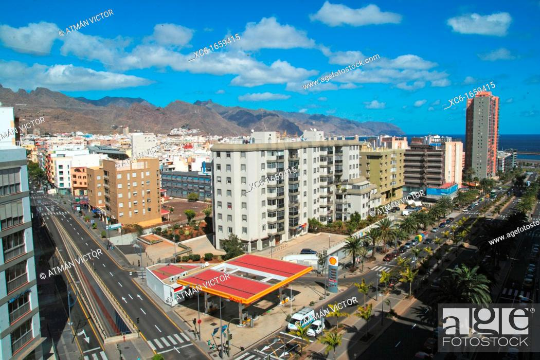 Stock Photo: panoramic view of Santa Cruz de Tenerife.