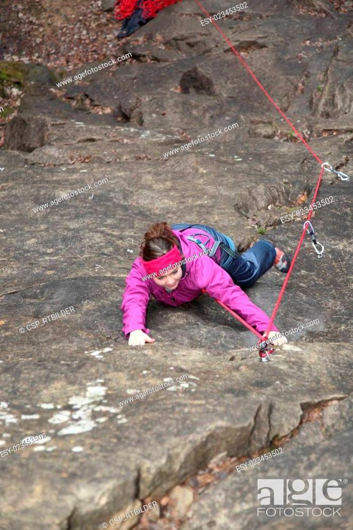 Stock Photo: climb up.