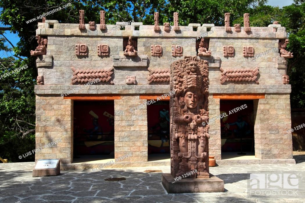 Stock Photo: Maya Ruins, Roatan Honduras.