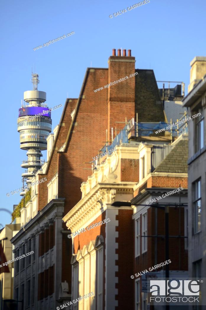 Imagen: Buildings on Fitzrovia Street and the BT Tower, London.