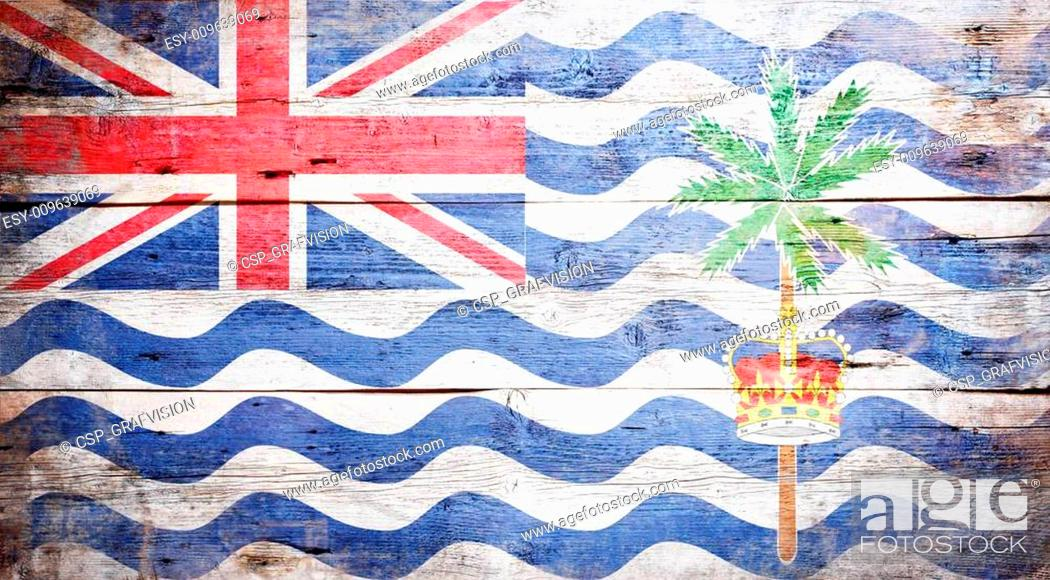 Stock Photo: Flag of the British Indian Ocean Territory.