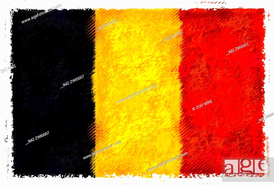 Stock Photo: Flag of Belgium.