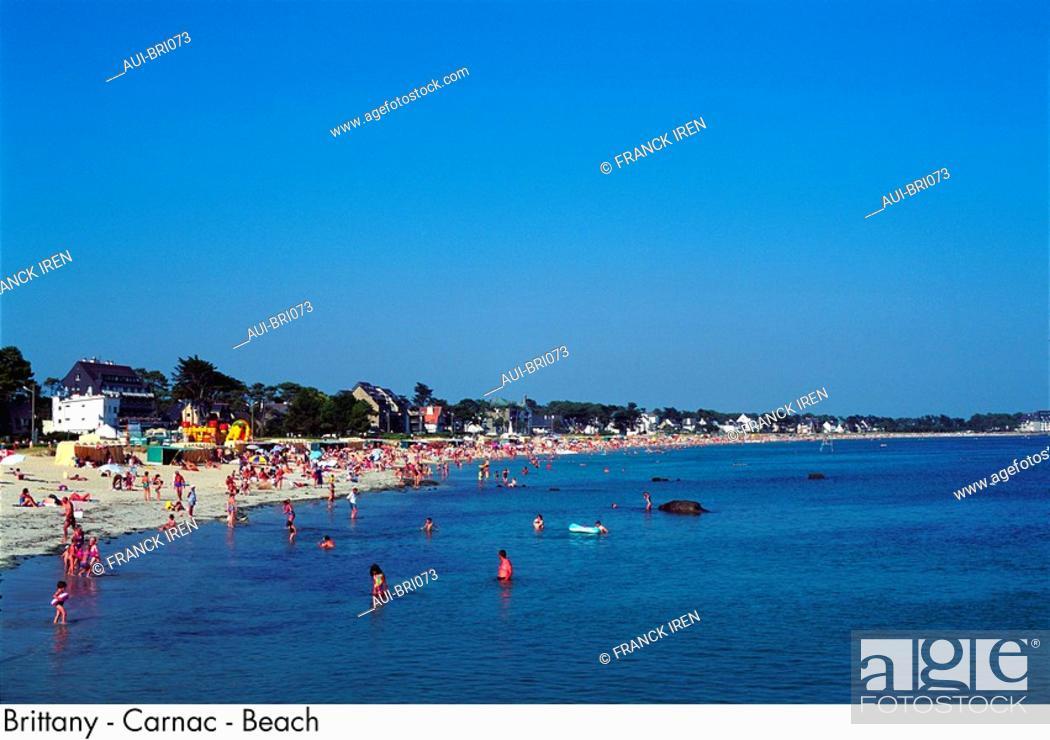 Stock Photo: Brittany - Carnac - Beach.