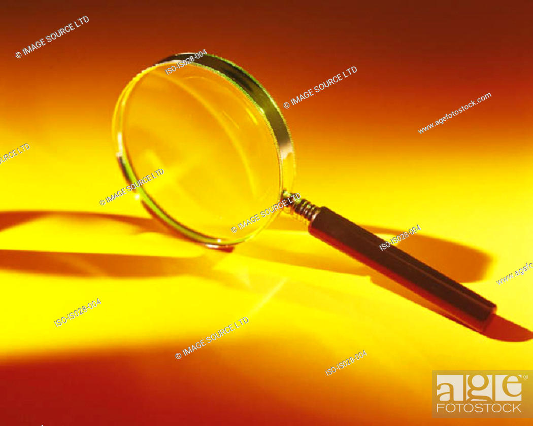 Stock Photo: Magnifying glass.