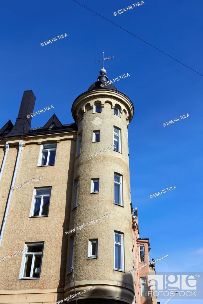 Stock Photo: architecture detail in Katajanokka, Helsinki Finland.
