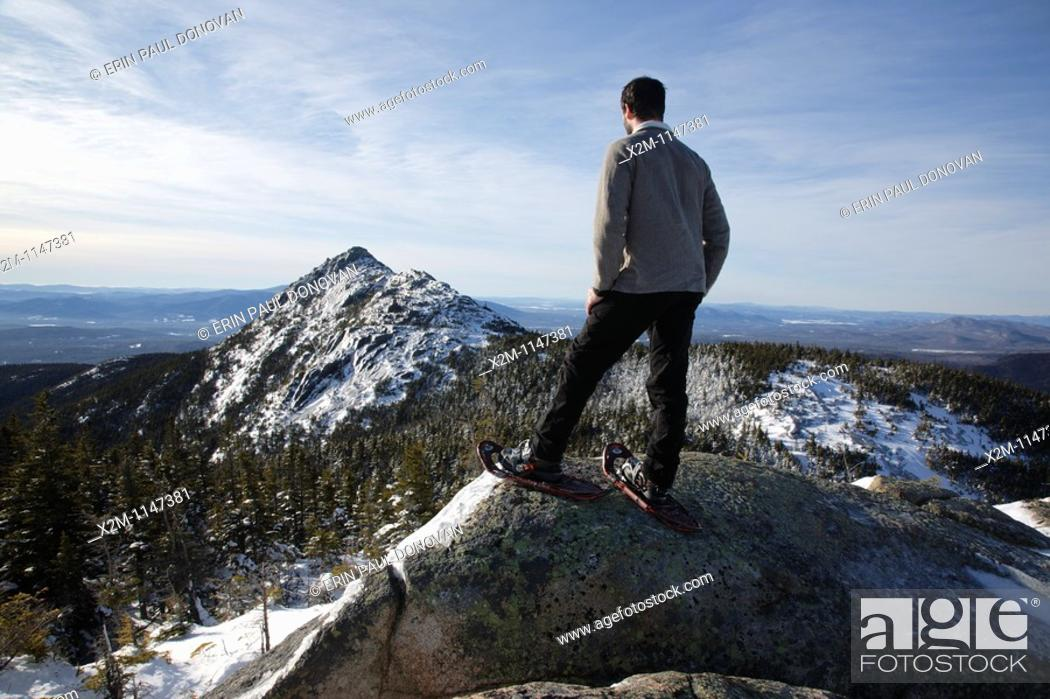 Stock Photo: Mount Chocorua from Middle Sister Trail in the White Mountains, New Hampshire USA.