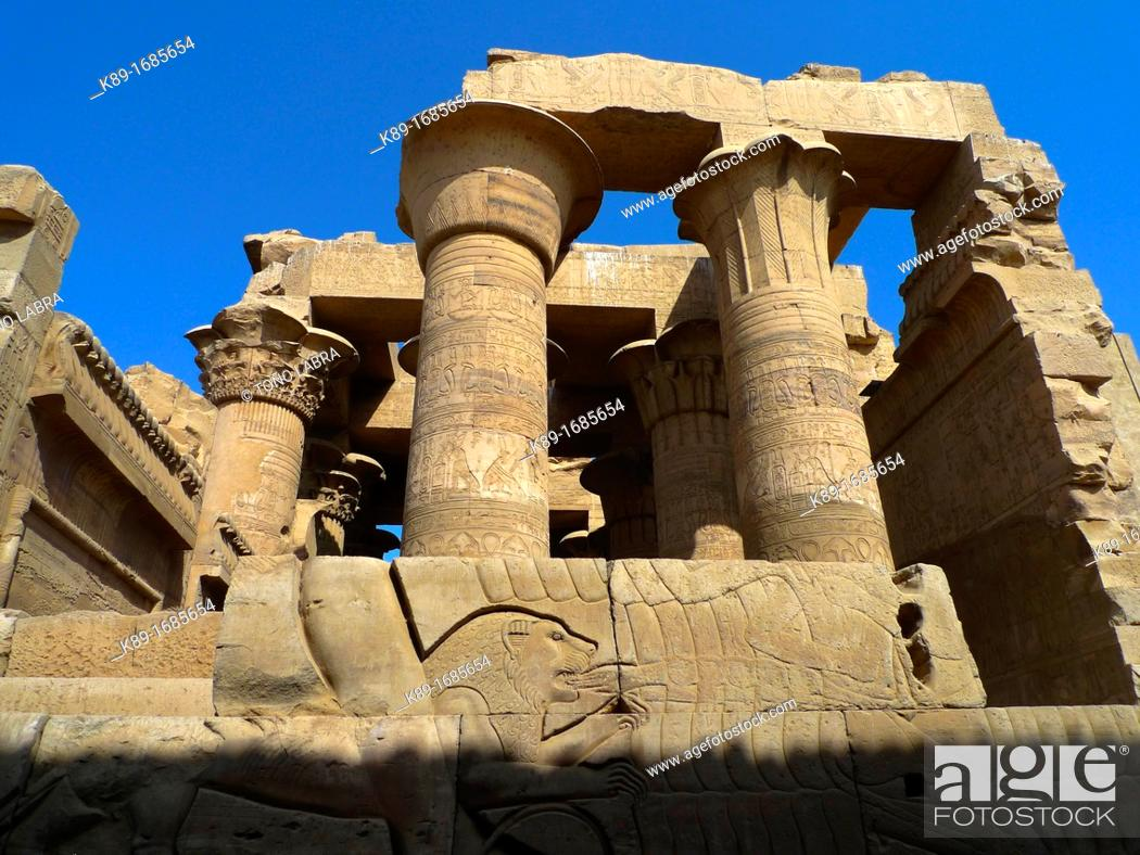 Stock Photo: Hypostyle Hall. Kom Ombo Temple. Upper Egypt.