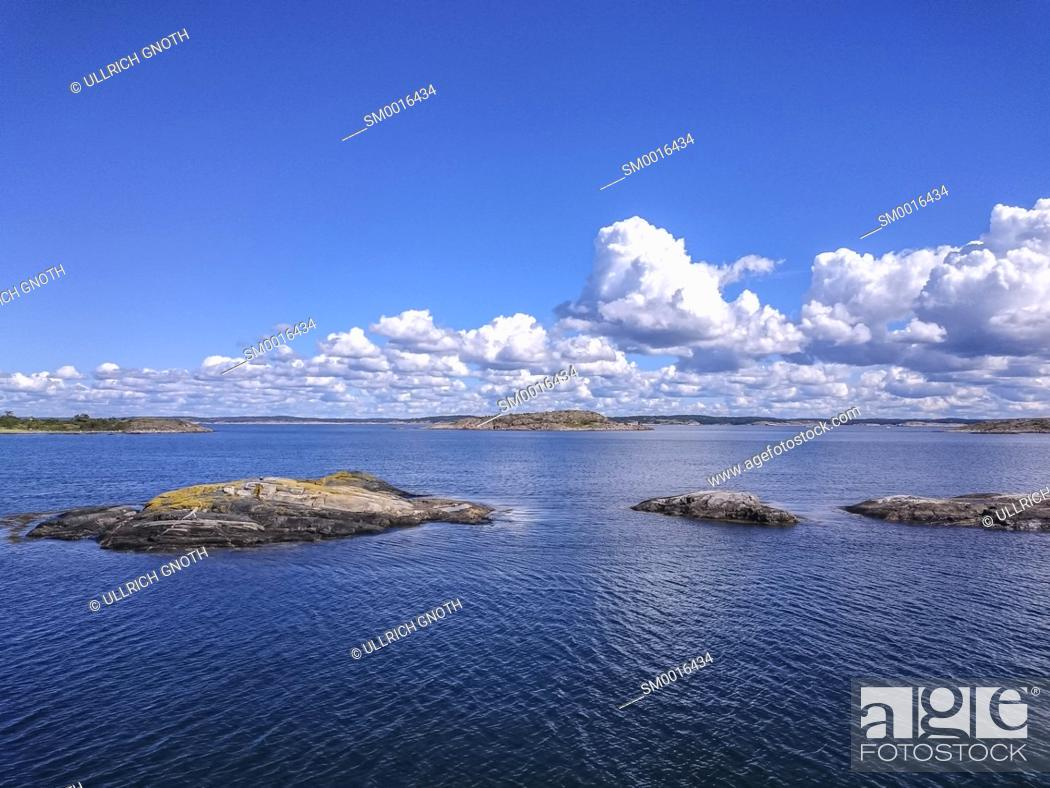 Stock Photo: Koster Fjord off South Koster Island, Bohuslan County, Sweden.