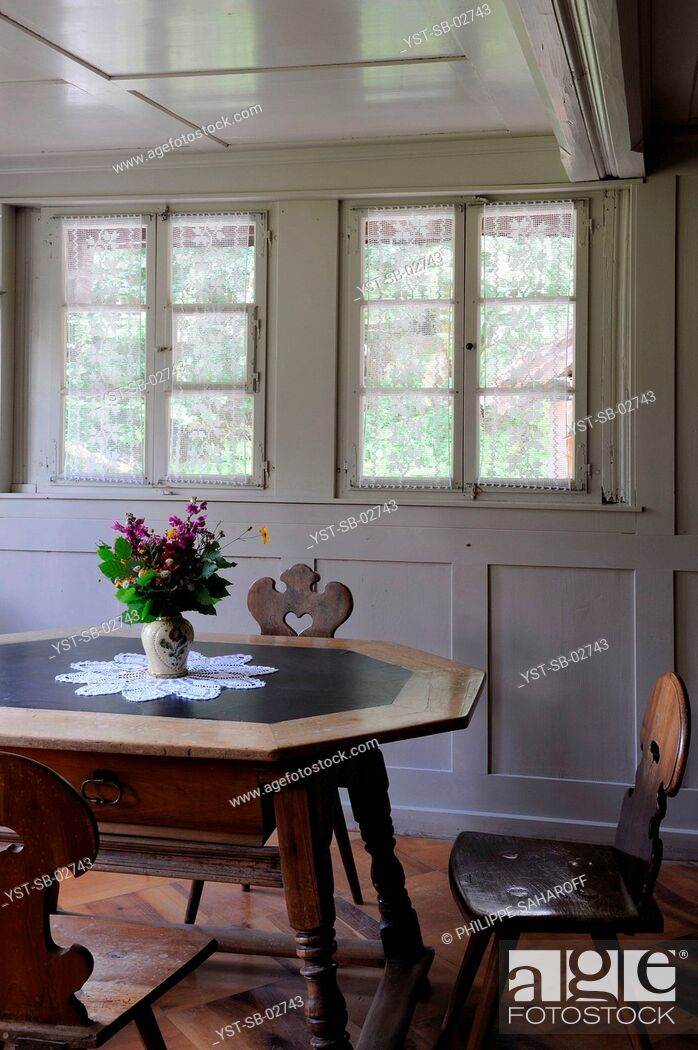 Stock Photo: Dinner Room, Switzerland.