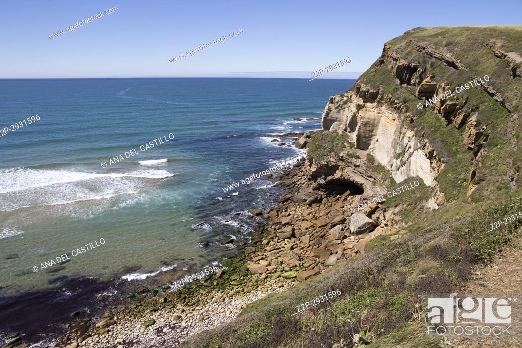 Stock Photo: Tagle Beach in Cantabria Spain.