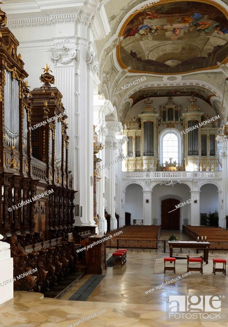Stock Photo: Rot an der Rot, Pfarrkirche, ehemalige Prämonstratenserklosterkirche.