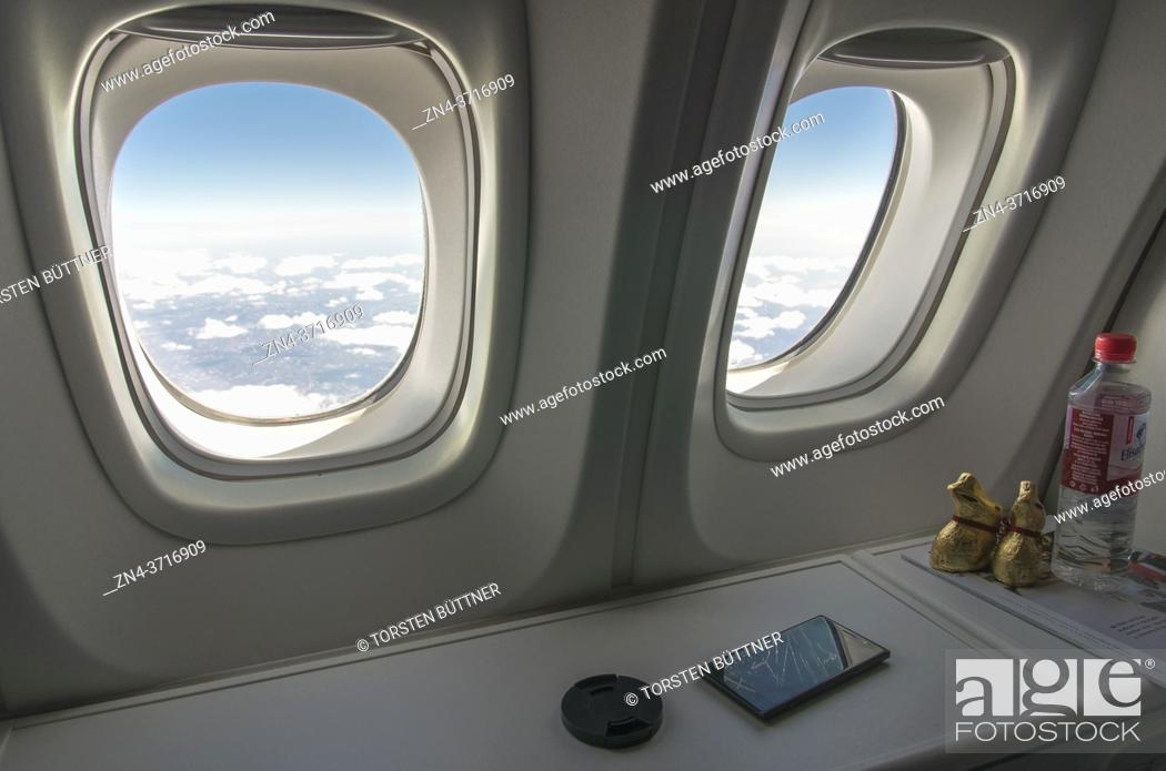 Stock Photo: View out of 747-8 Intercontinental Airliner, Siberia, Russian Federation.