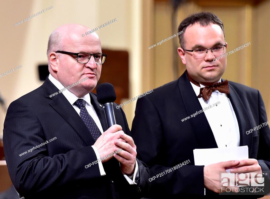 Stock Photo: The Czech Philharmonic under the baton of Jakub Hrusa present Antonin Dvorak's Stabat Mater in Rudolfinum, Prague, Czech Republic, on Sunday, June 18, 2017.