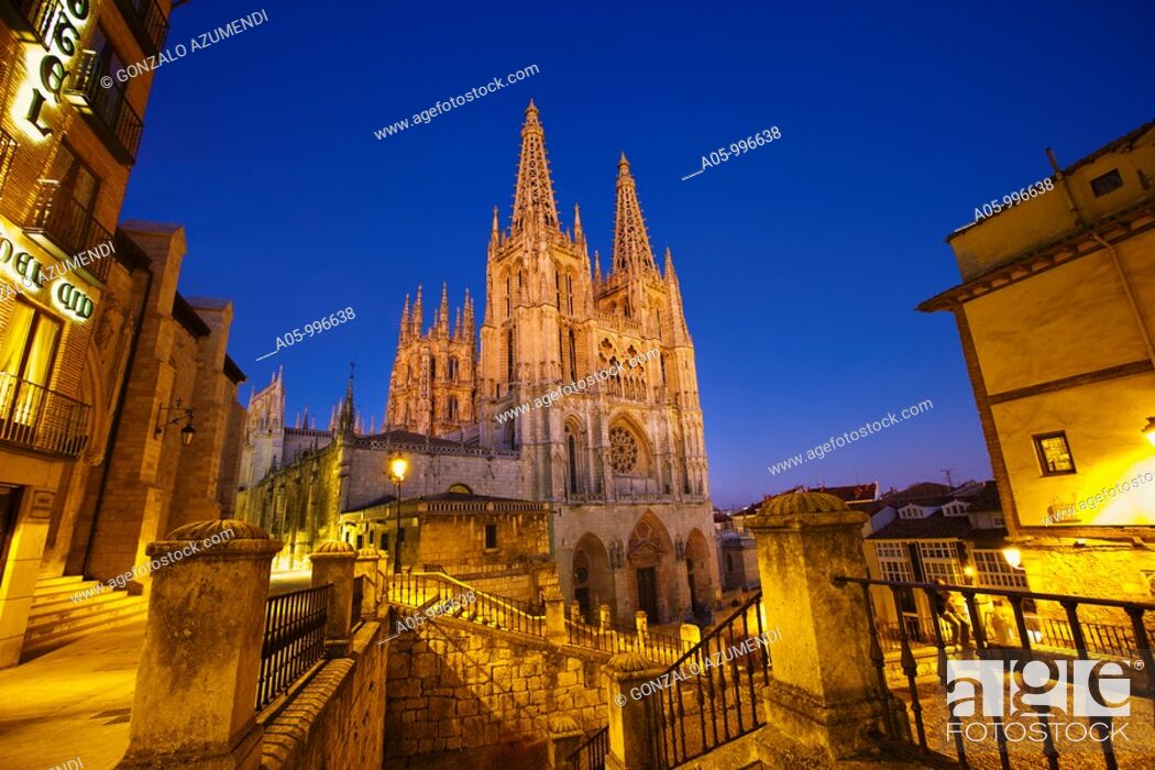 Stock Photo: Cathedral, Burgos. Castilla-Leon, Spain.