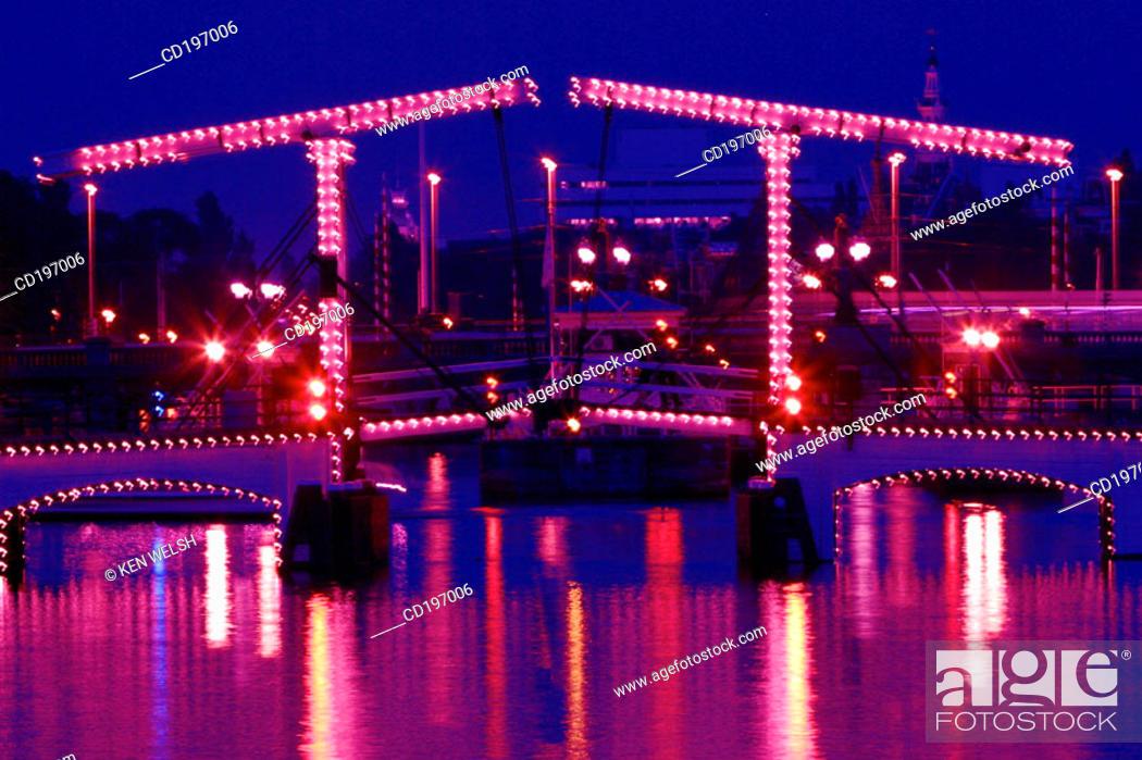 Stock Photo: Magere Bridge. Amsterdam. Holland.