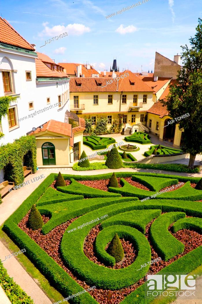 Stock Photo: Czech Republic - Prague - Mala Strana Prague 1 District - Vrtba Garden.