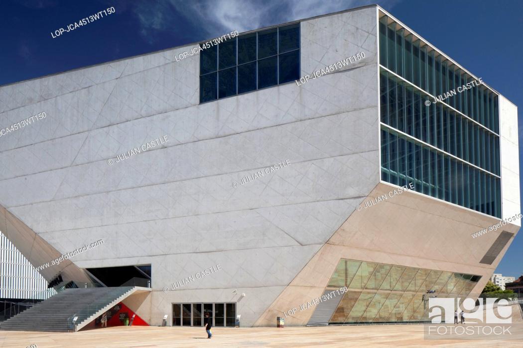 Stock Photo: Portugal, Porto, Oporto. Exterior of the Casa da Musica concert hall in Porto.