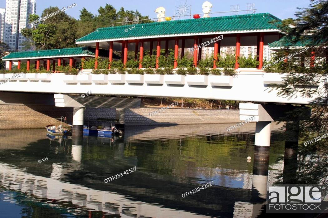 Stock Photo: Taiwo bridge in the town of Taiwo, Hong Kong.