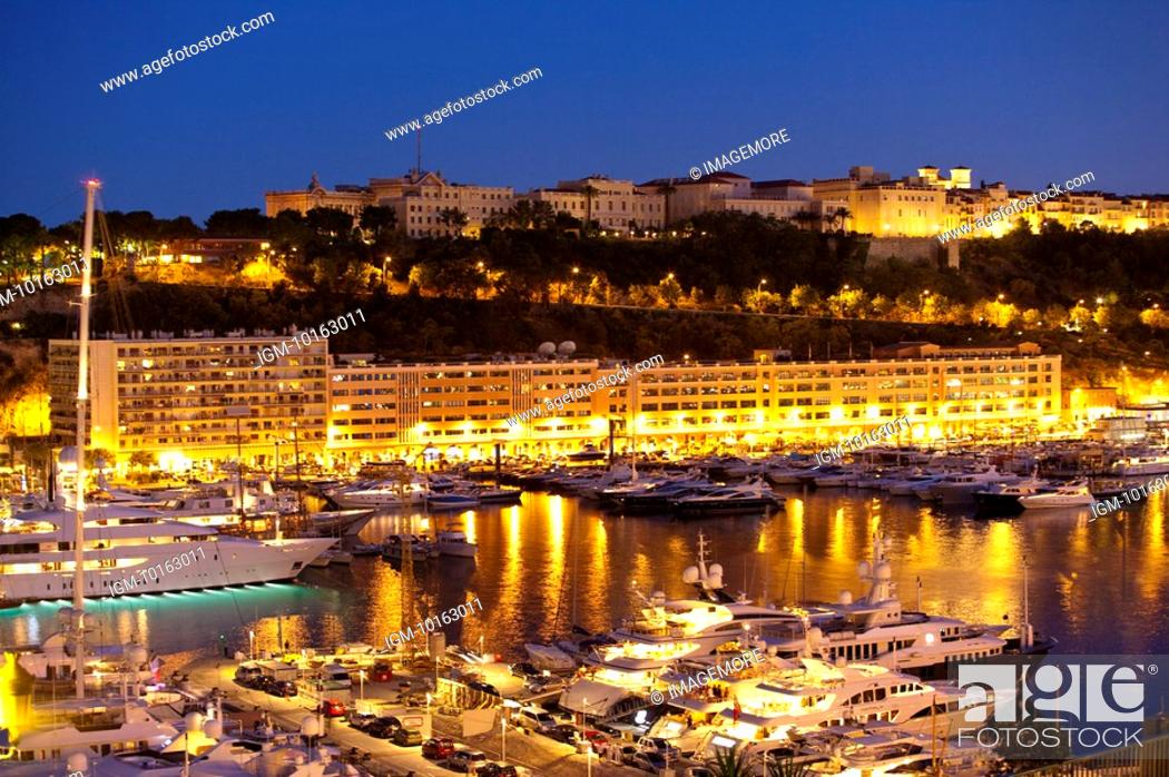 Stock Photo: Harbor in Monaco.
