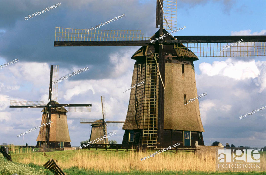 Stock Photo: Windmills. Holland.